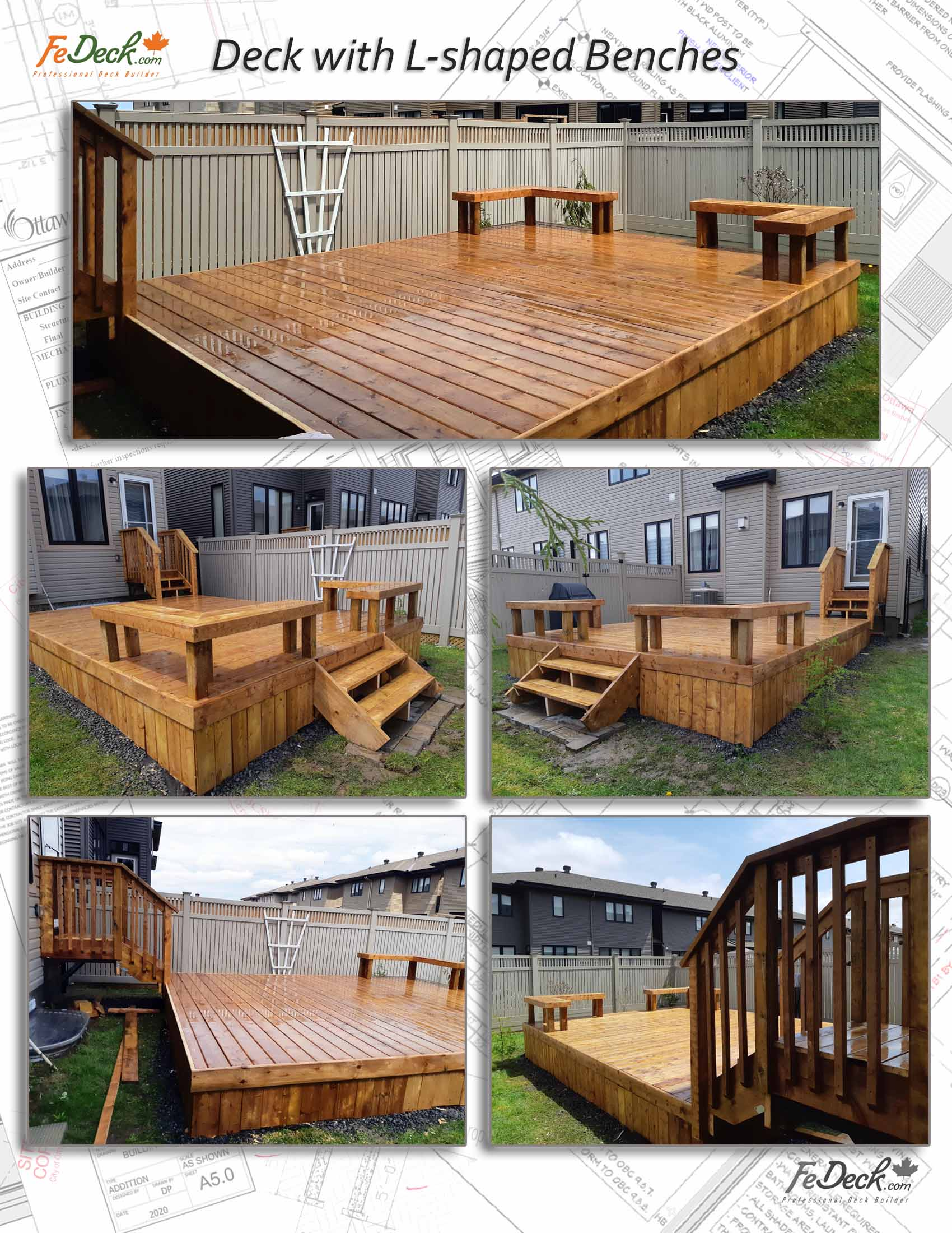 Deck with L Shaped Benches