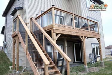 High Deck Extension with Stairs Kanata sm