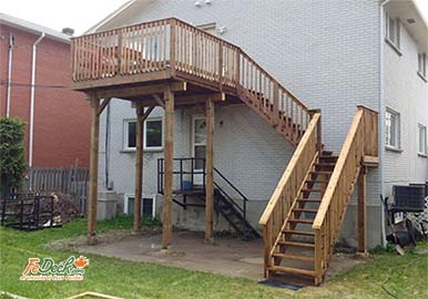 High Deck Split Level Stairs with Landing Ottawa sm