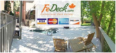 credit card deck payment accepting contractors builders