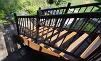 Brown Composite Deck Stairs with Aluminum Railings sm