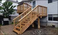 Deck stairs with a landing sm